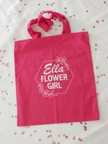 Hexagon Floral Border Personalised Tote Bag